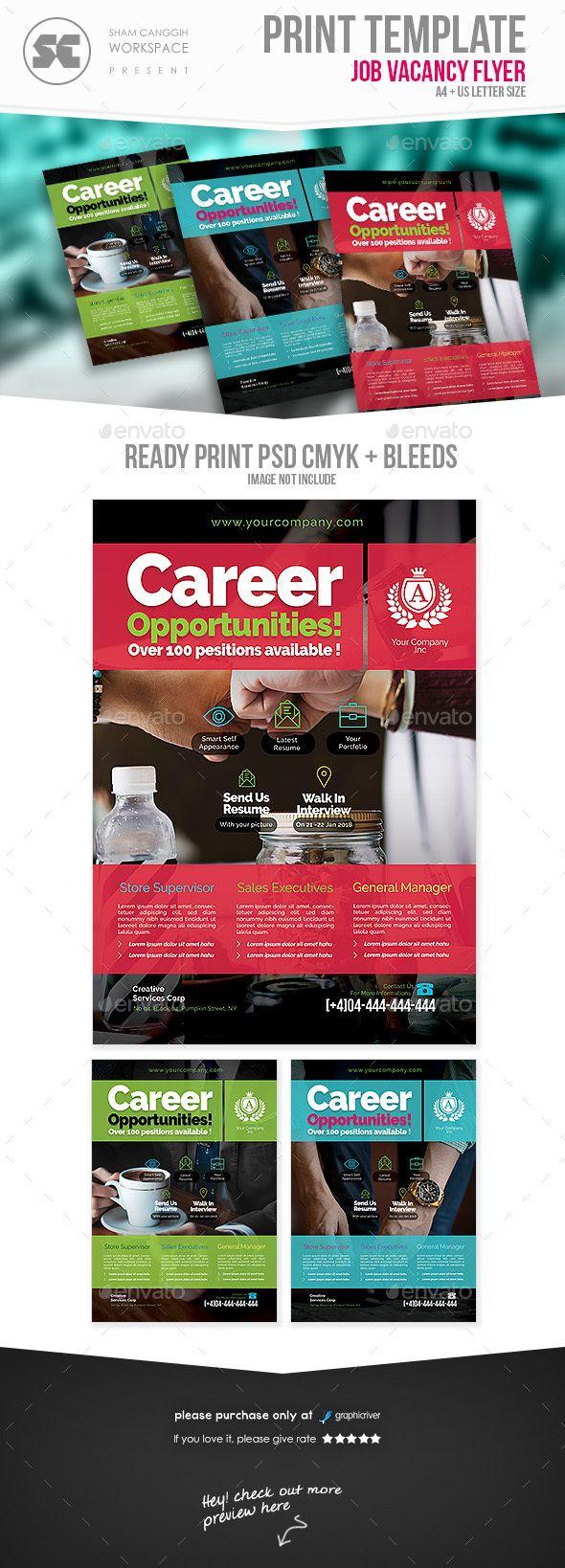 Job Vacancy Flyer Flyer Template Flyer