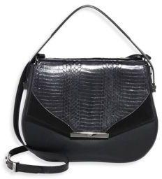 Khirma New York Deedee Leather, Snakeskin & Suede Saddle Bag  https://api.shopstyle.com/action/apiVisitRetailer?id=622321548&pid=uid2500-37484350-28
