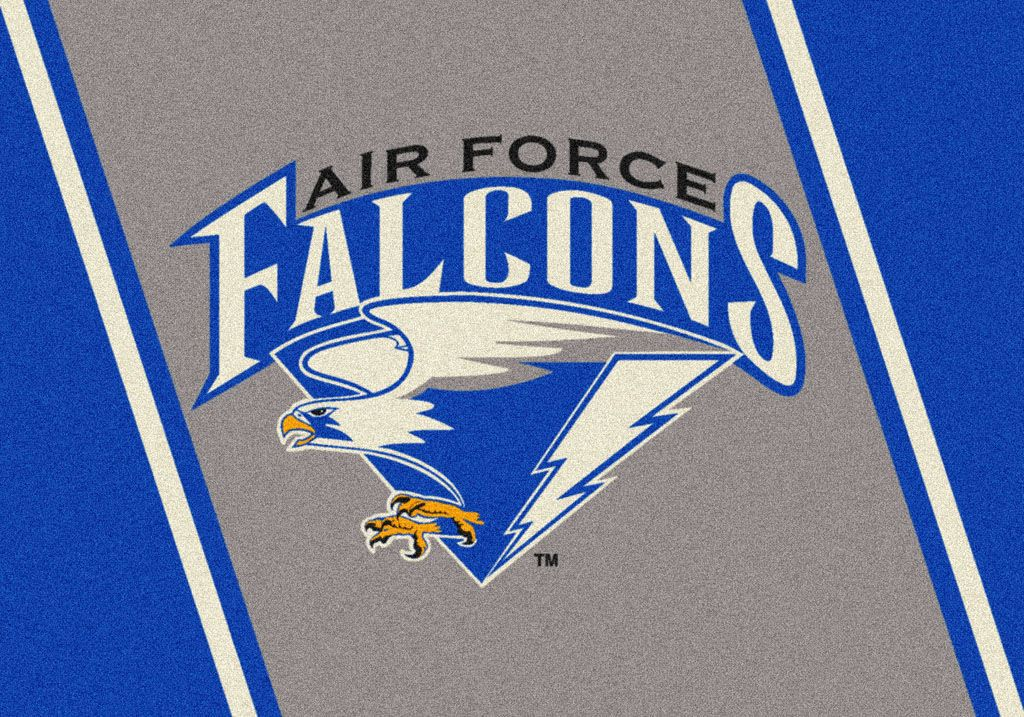 Air Force College Team Spirit Area Rug Details https