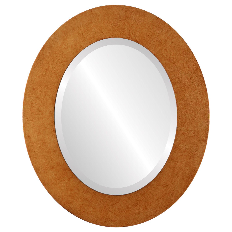 Burnished Gold Beveled Mirror $133 | Round mirror frame ...