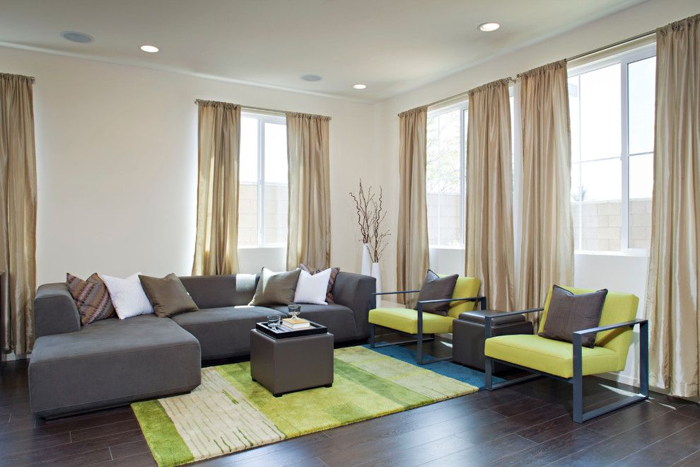 Extraordinary Lime Green Design Ideas For Delicate Living Room Contemporary With Colorful Rug Curtain