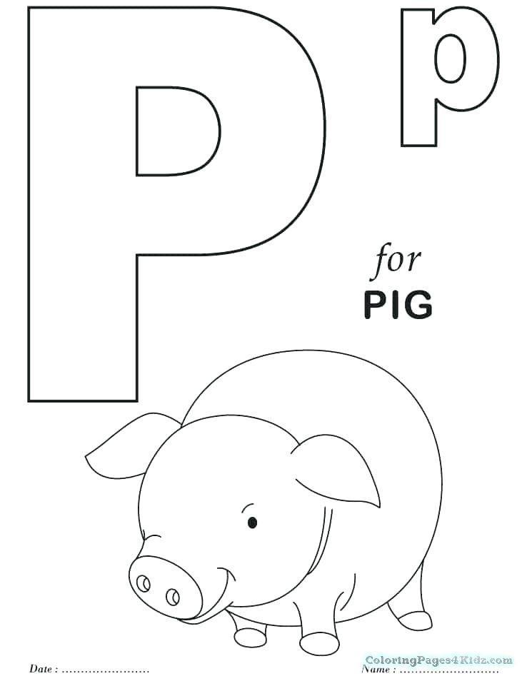 Letter P Coloring Pages Kindergarten Letter P Coloring Sheets P