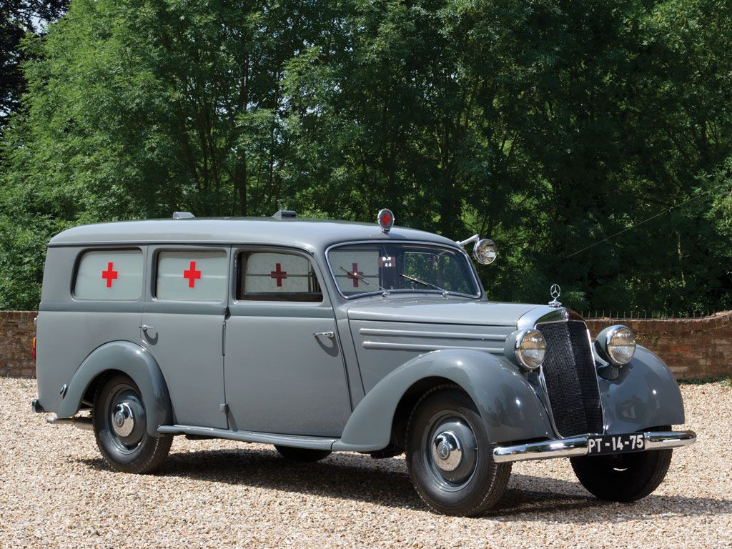 1954 mercedes benz 170 s v ambulance mbhess mbclassic for Mercedes benz emergency