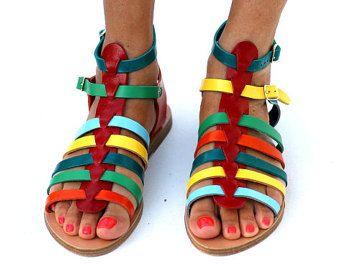 Sandalias Flipper hecha a mano a pedido por ElinaLinardaki en Etsy