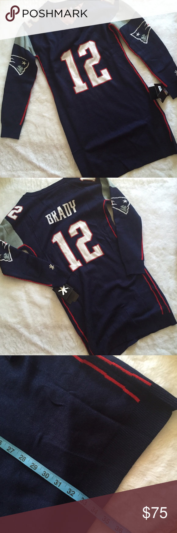NWT New England Patriots Tom Brady sweater dress New with tags rare style!!  Marked but will fit most sizes NFL Sweaters V-Necks cbfaa75e9