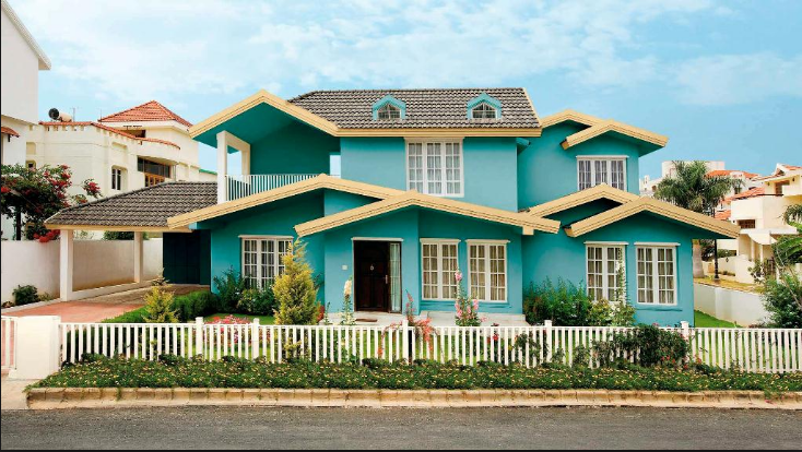 Colour Design Of House Cat Rumah Eksterior Lukisan Rumah Warna Cat Eksterior