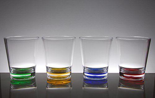 4 Assorted Colors QG Set of 8 Colorful Stackable 12 oz Acrylic Plastic Tumbler