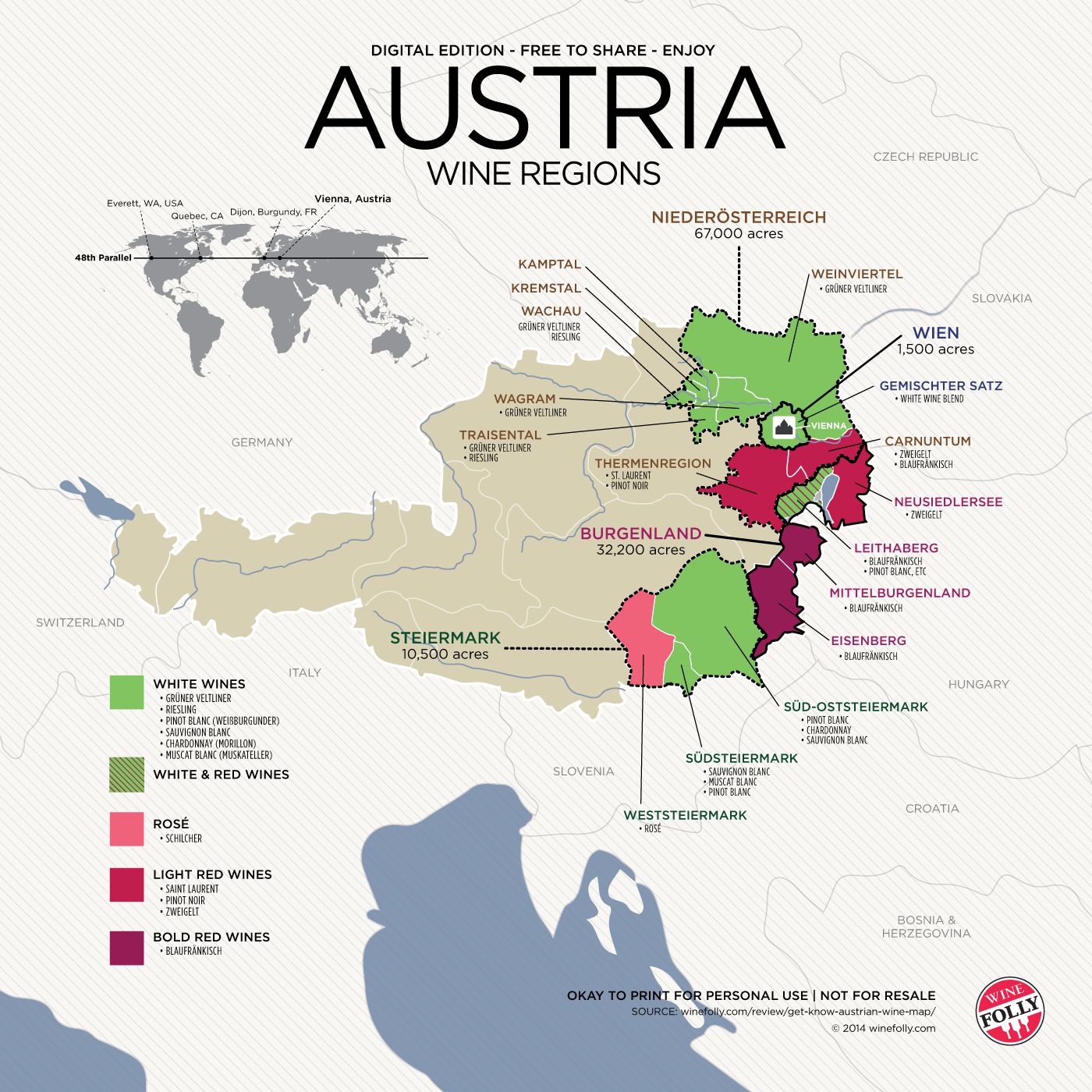 Get to know austrian wine with map mapas enologia y maridaje get to know austrian wine with map wine folly gumiabroncs Images