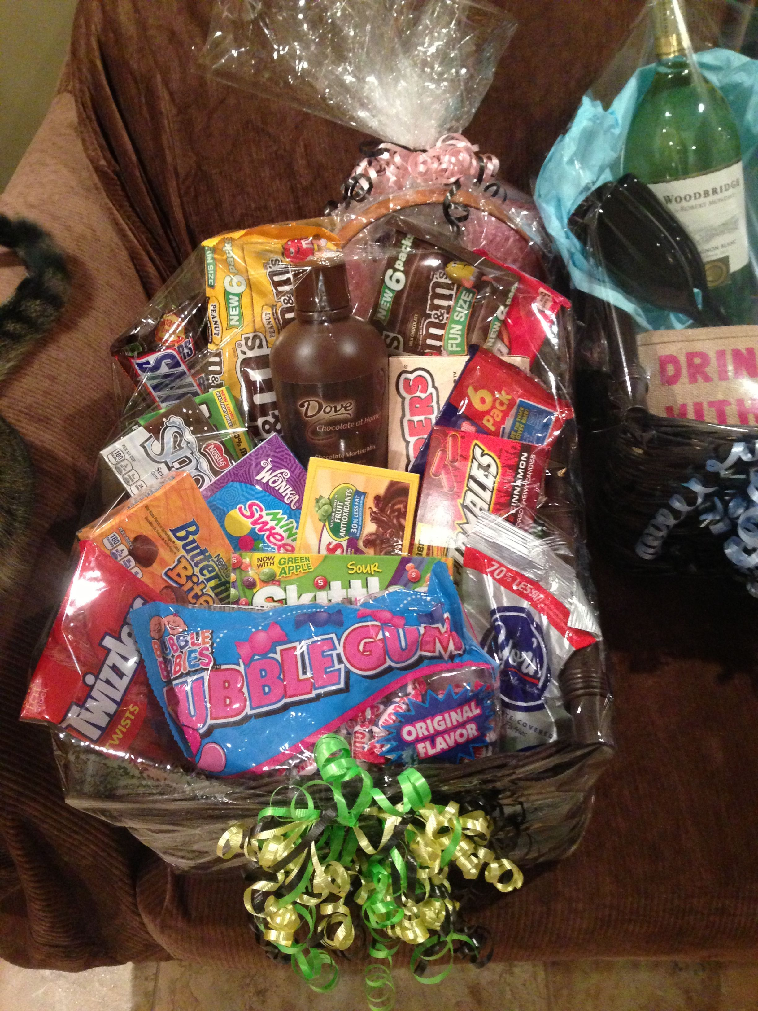 Candy Basket For Raffle Baskets Of Cheer Raffle