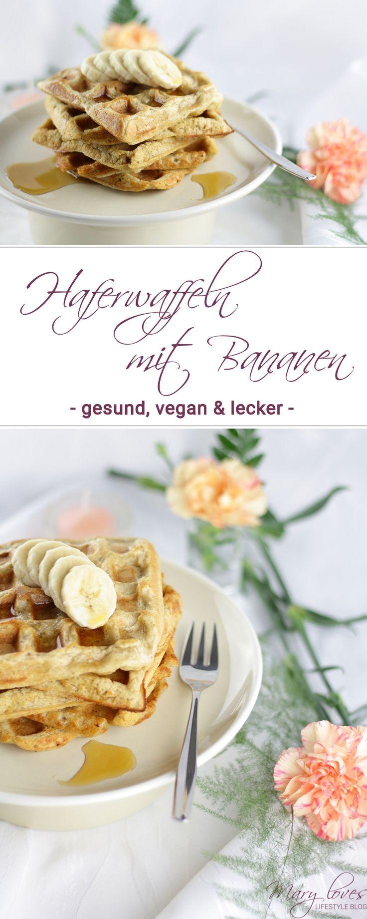 Gesundes Frühstück: Vegane Haferwaffeln mit Bananen #frühstückundbrunch