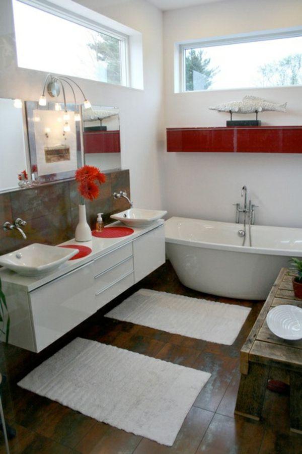 Ikea Badezimmer Möbel Mit Roten Akzenten