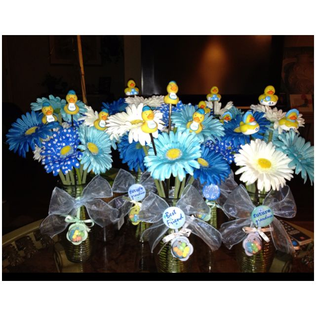 It S A Boy Baby Shower I Made These For Centerpiece Decorations