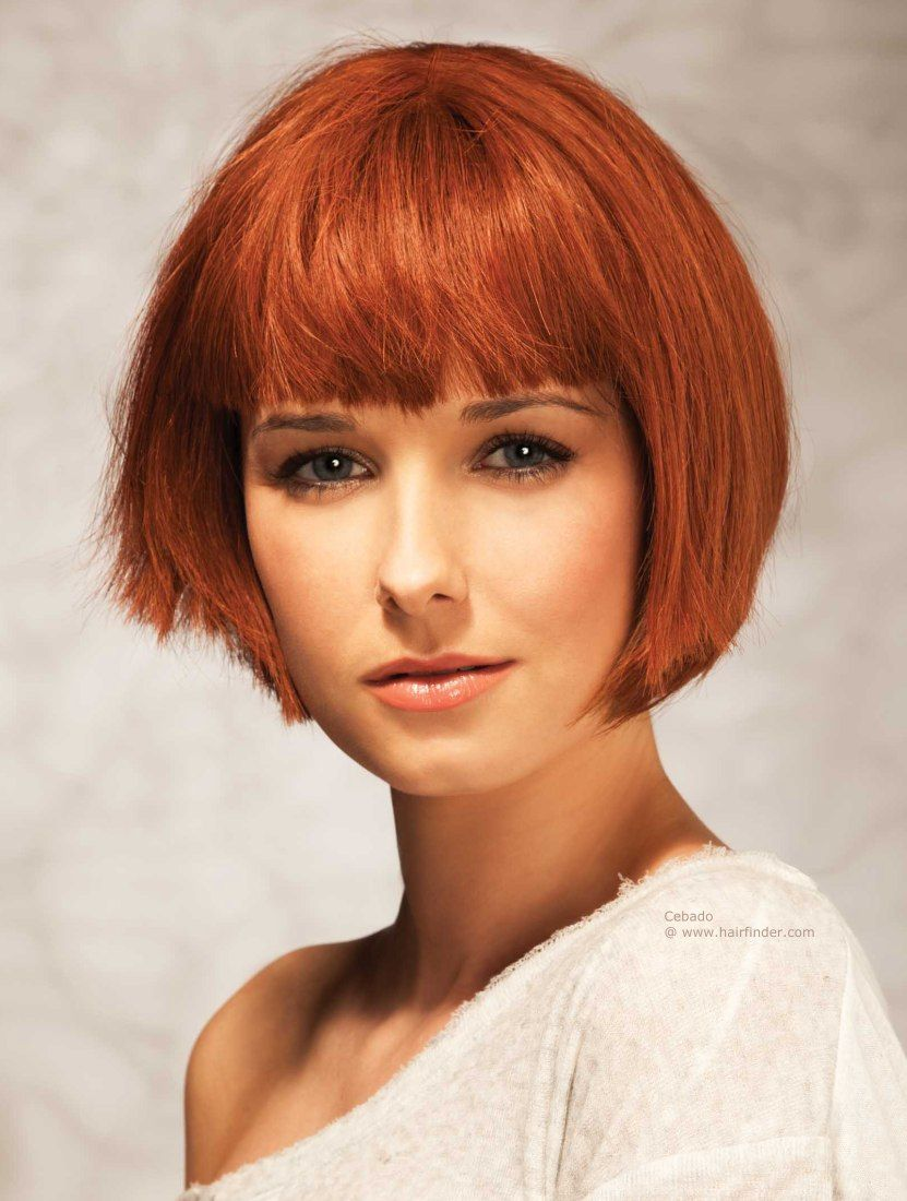 Chin length bob hairstyle with a round shape haircut