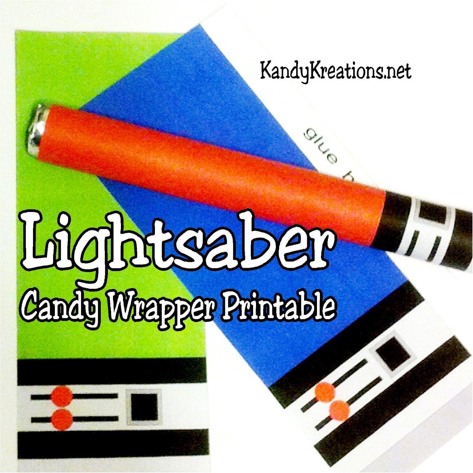 Lightsaber Sweet Tart Candy Wrapper Printables