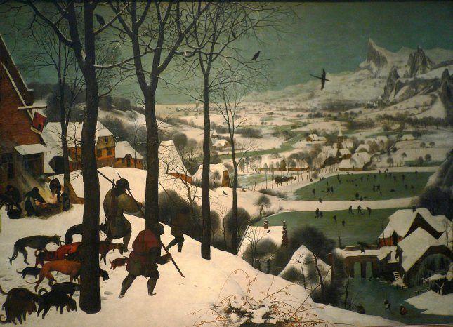 Hunters in the Snow, Winter, Pieter Bruegel the Elder