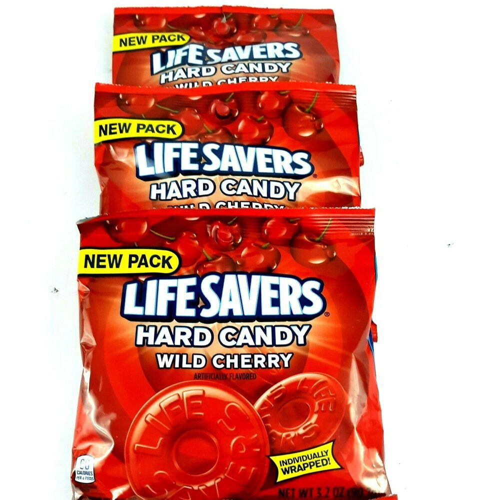 Lifesavers wild cherry candy individually wrapped pack of