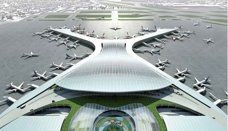 Mumbai Modern Airport #architecture #engineering #construction #MumbaiPride  #airport #Marvel Http