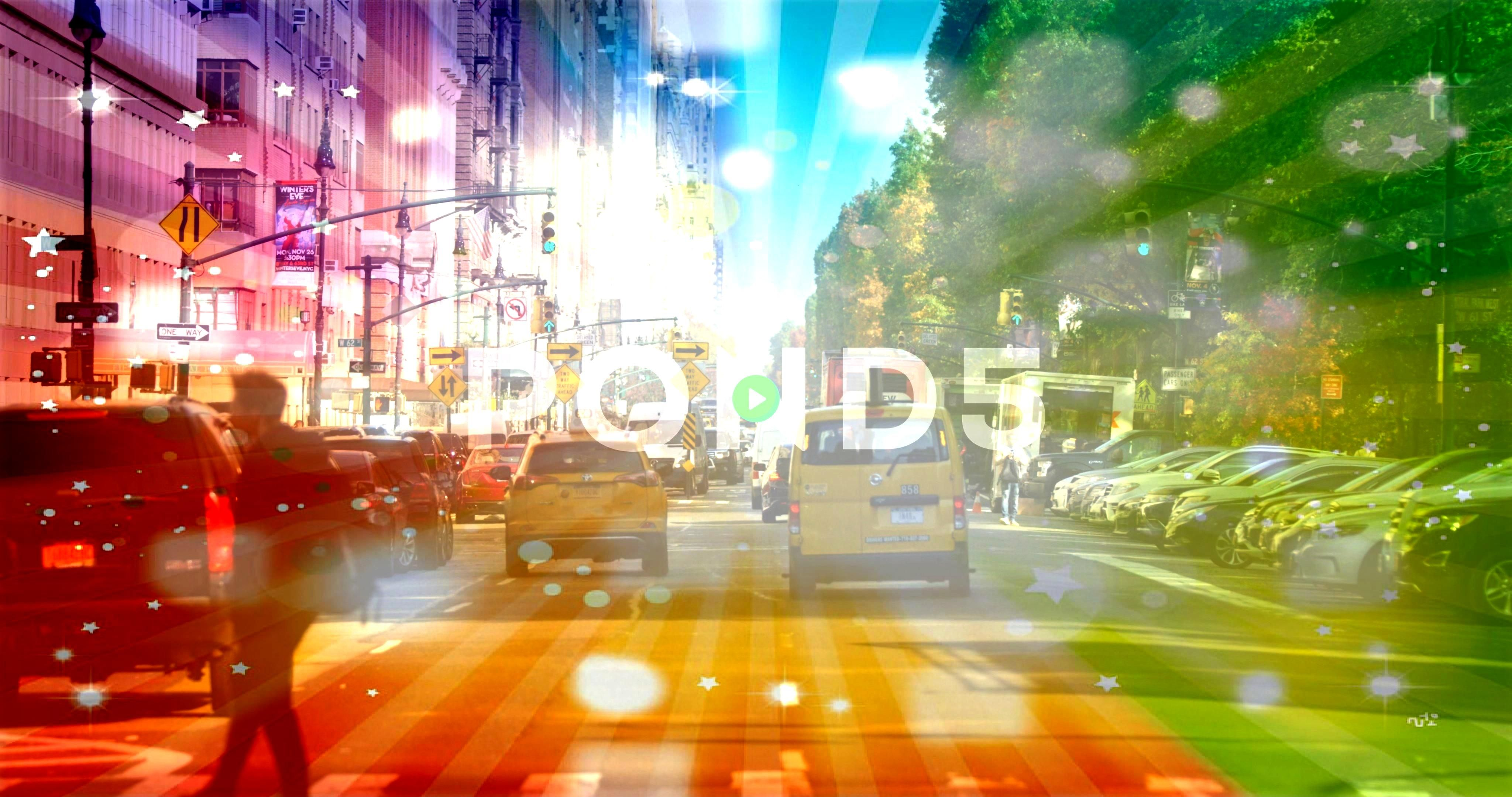The Crossing On Busy Street In New York City Rush Hour Traffic Stock Footage StreetYorkBusyPeoplePeople Crossing The Crossing On Busy Street In New York City Rush Hour Tr...