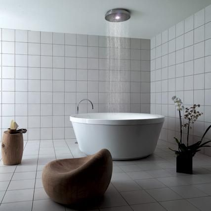Love The Simplicity And Practicality Of This Gorgeous Soaking Tub Shower Combination