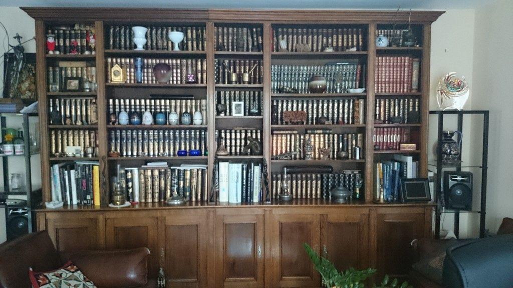 Relooking du0027une bibliothèque en chêne finition cirée, pour faire une