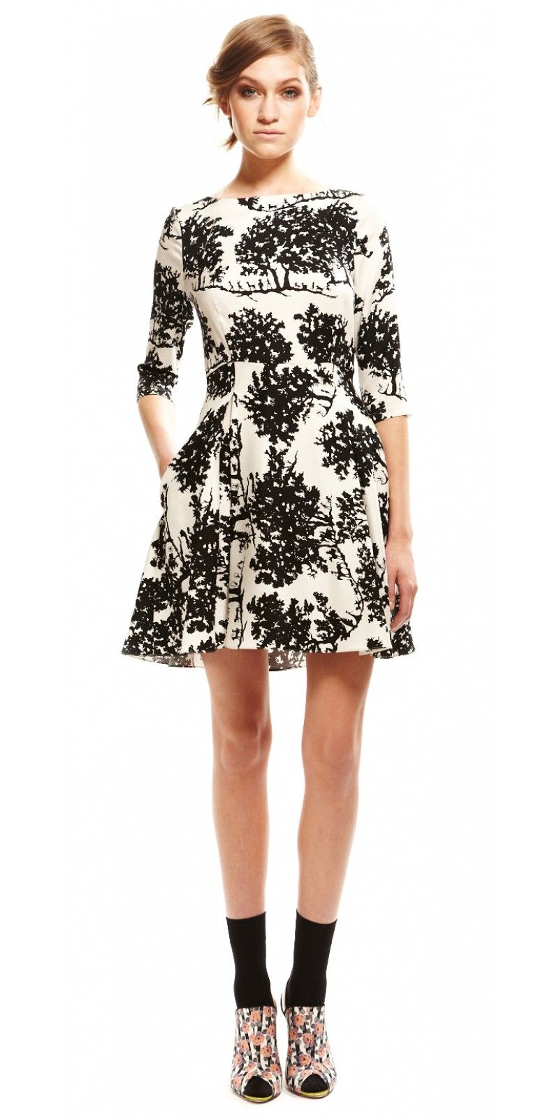 3/4 sleeve dress - SUNO