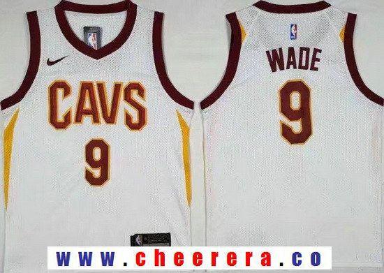 f145c36d0 Men s Cleveland Cavaliers  3 Dwyane Wade White 2017-2018 Nike Swingman  Goodyear Stitched NBA