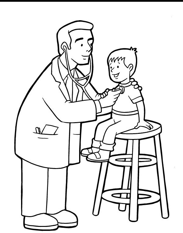 Doctor Coloring Pages Sheets | pracovne profesie, | Pinterest ...
