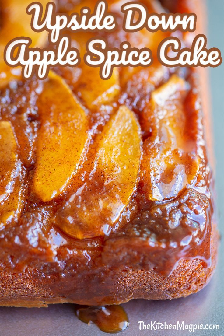 Cinnamon Spice Upside Down Apple Cake | The Kitchen Magpie