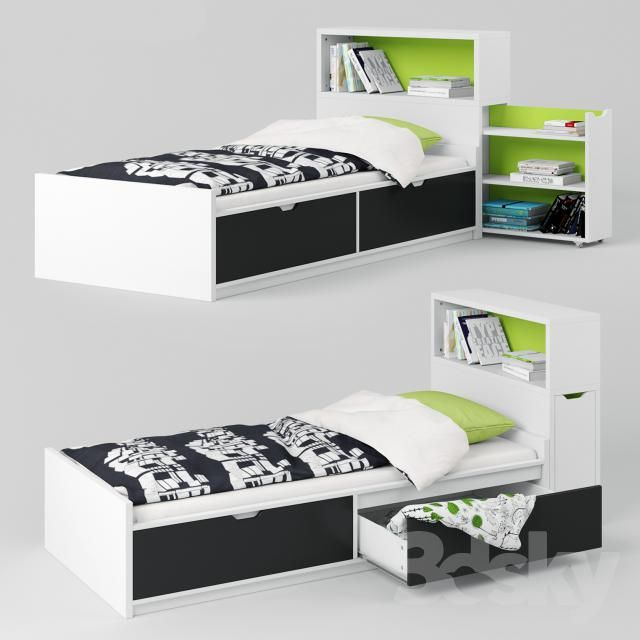 3d models bed ikea flaxa bed headboard new home. Black Bedroom Furniture Sets. Home Design Ideas