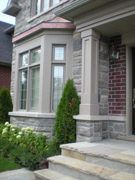 Stone Porch Pillar Designs | 48,442 Stone Porch Columns Home Design Photos