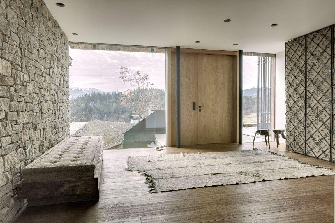 Entree Moderne entrée chalet baie vitrée   living rooms in 2018   pinterest