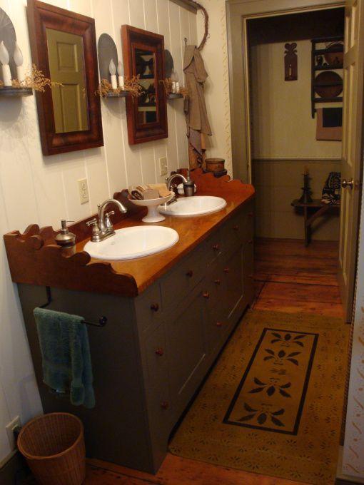 Country Primitive Bathroom Remodeling Ideas Olde Spoon River Homestead Primitive Bathroom