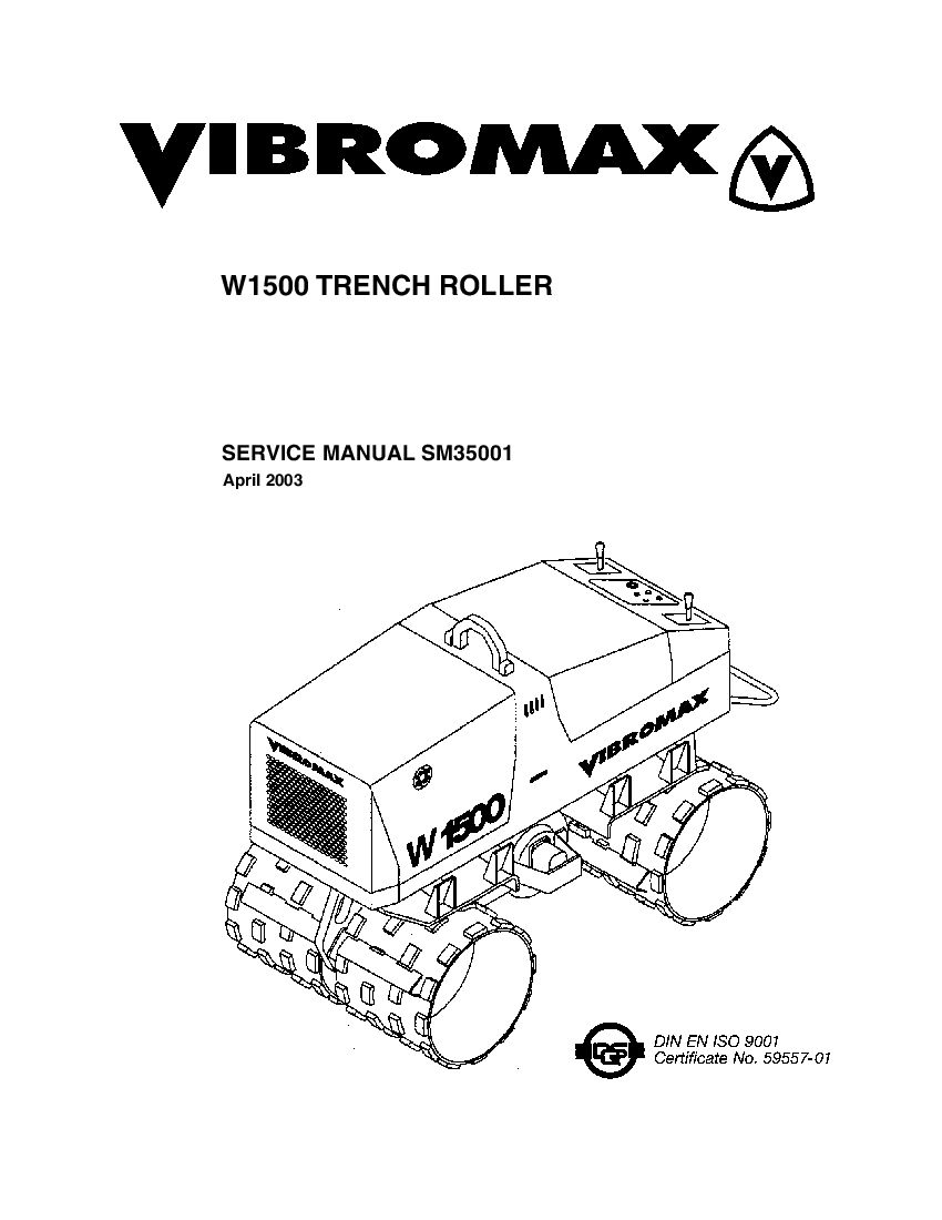 JCB Vibromax W1500 Trench Roller Workshop Repair Service
