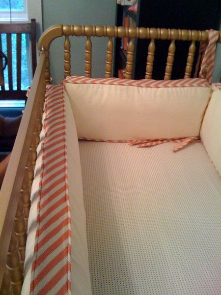 The Blog Diy Crib Bedding Bumper Pads For Cribs Baby Girl Room
