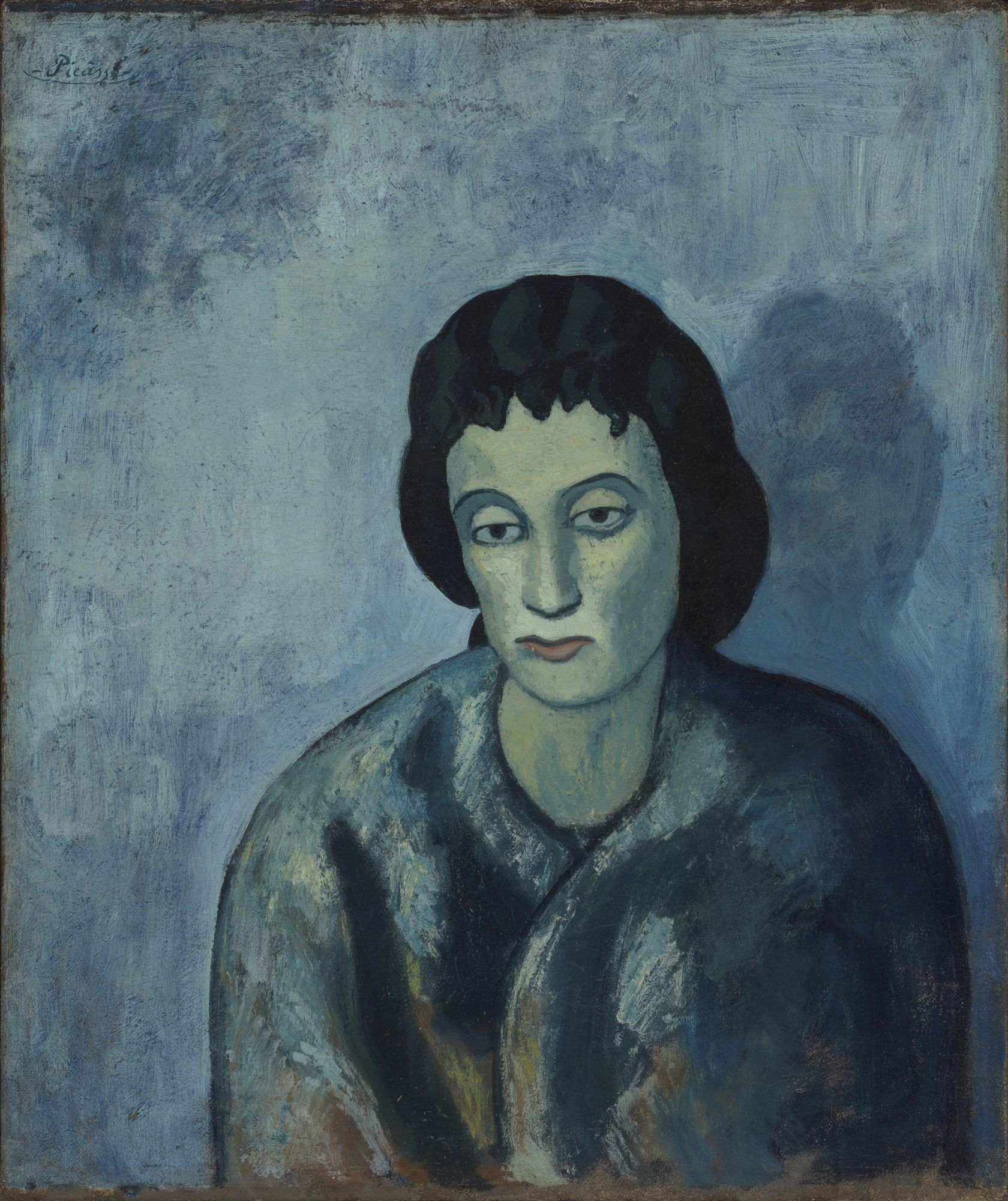 Pablo Picasso 1881 1973 Woman With Bangs [1902] Oil On Canvas