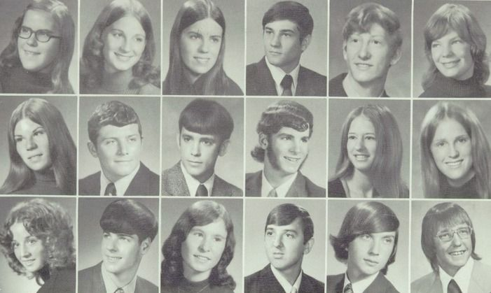 1973 hair in the yearbook of craig high school in janesville