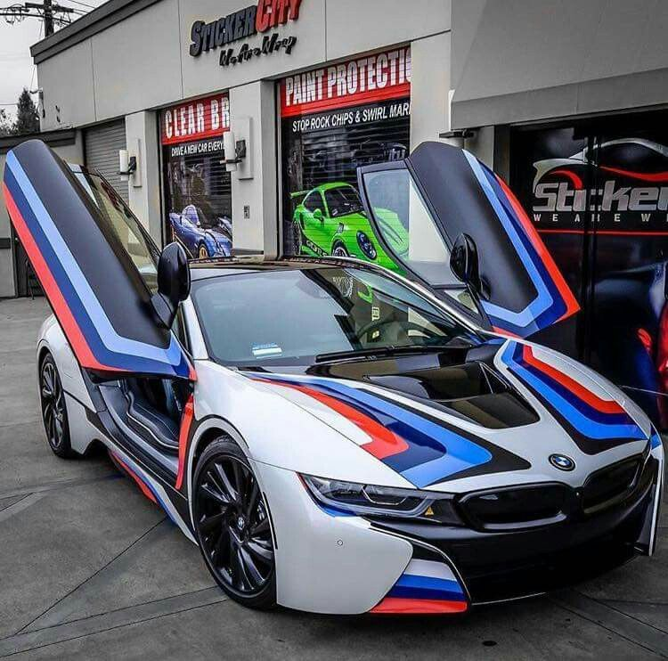 Bmw I8 White M Stripe Projects To Try Pinterest Cars Bmw
