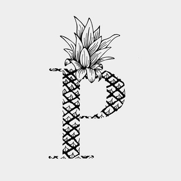 #P de Piña by @littlebuddhalover by 36daysoftype