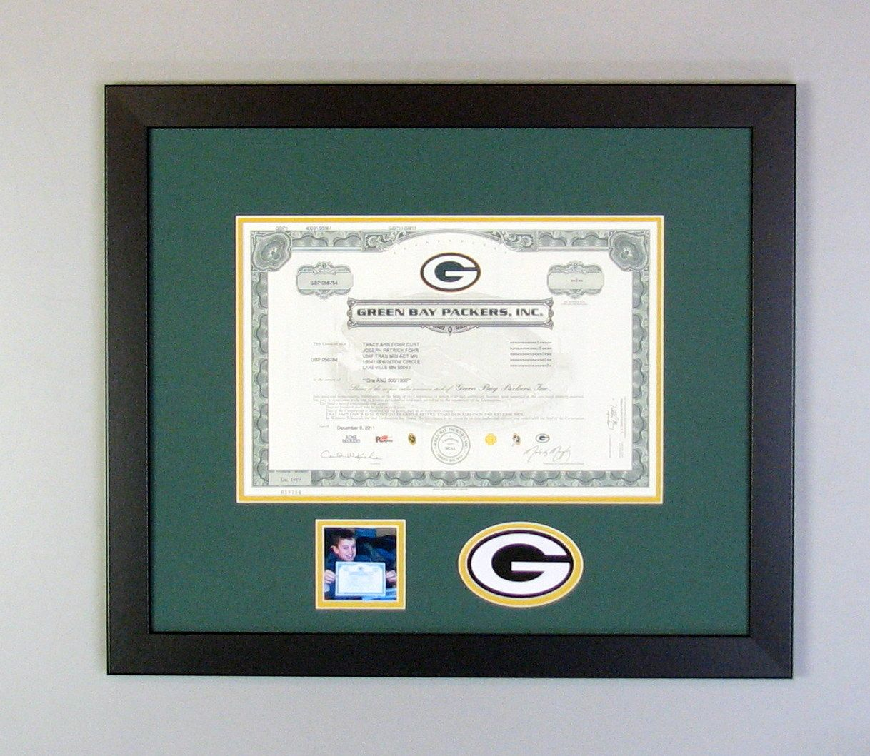 Greed Bay Packers | Sports Memorabilia Framing -- Tami\'s Fastframe ...
