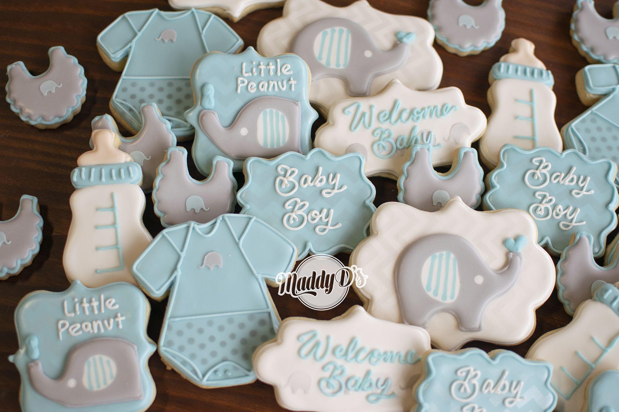 Elephant Baby Shower For A Boy Little Peanut Baby Boy Blue Baby