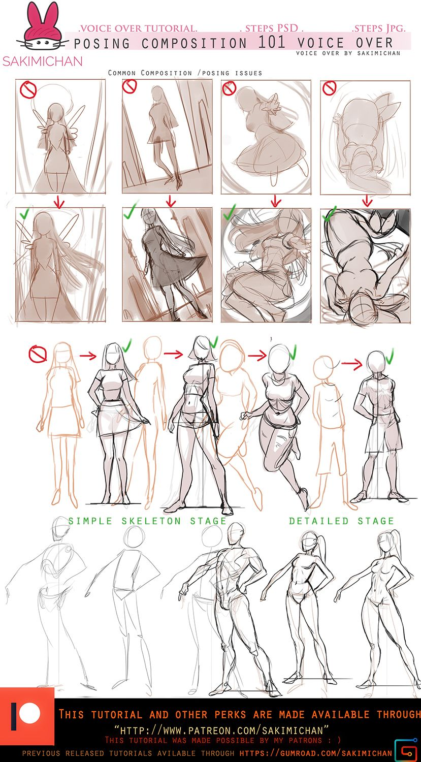 Posing/compositon for characters .voice over.promo by sakimichan ...