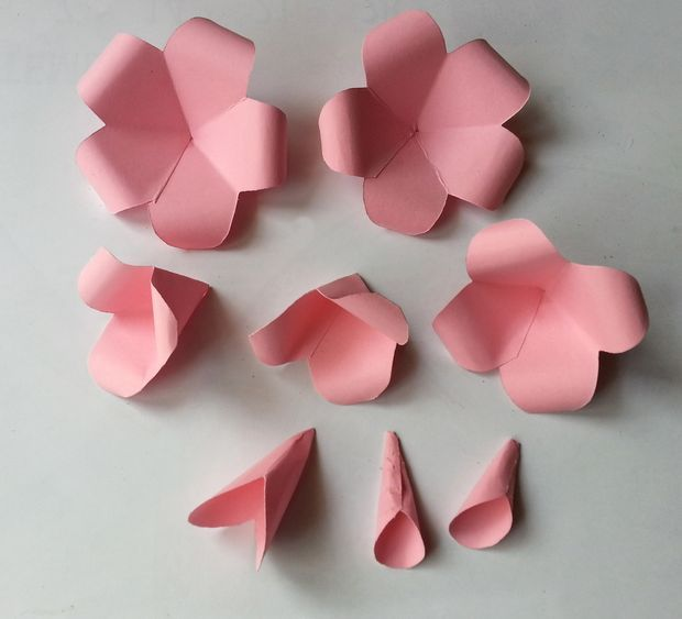 Flower making by paper folding forteforic flower mightylinksfo