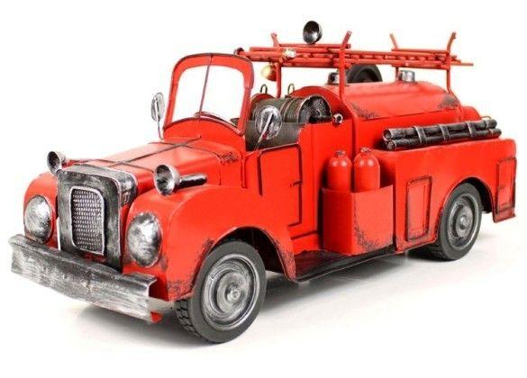 Handmade Antique Model Kit Car 1938 Ford Model T Fire Engine