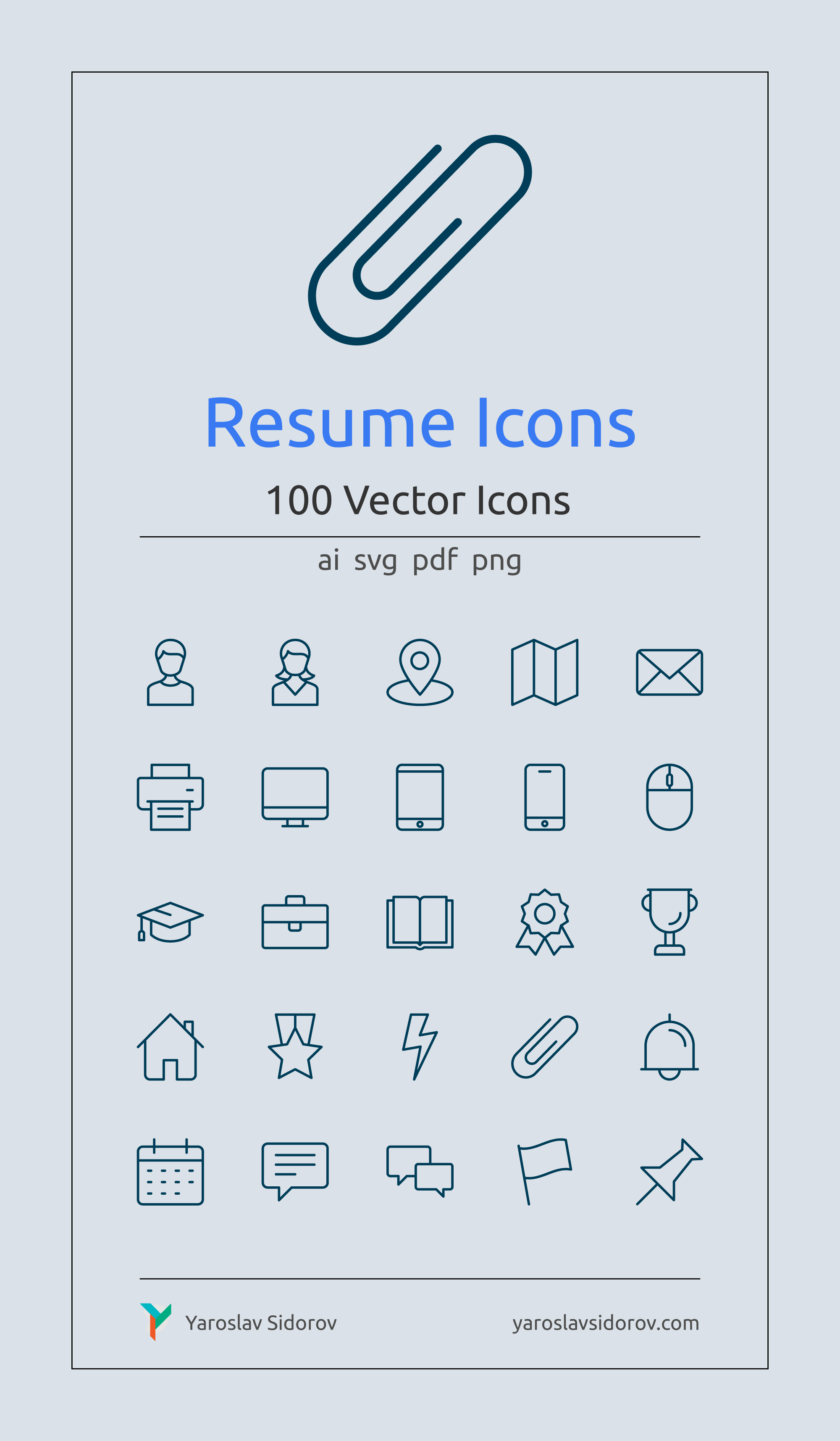 Resume Icons In Vector And Png Etsy In 2021 Resume Icons Icon Resume
