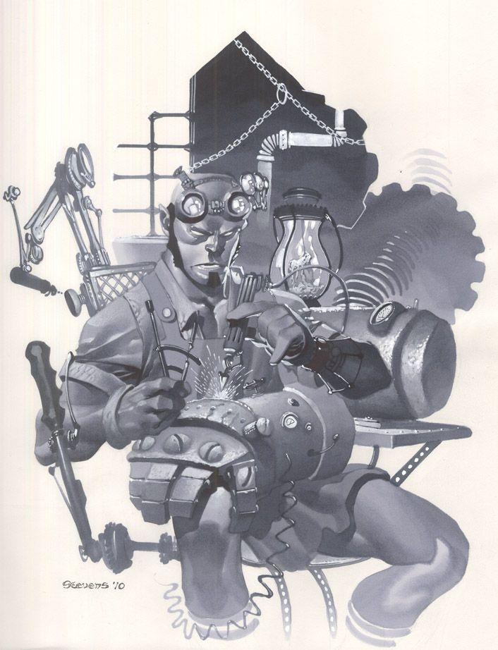 Steampunk hellboy