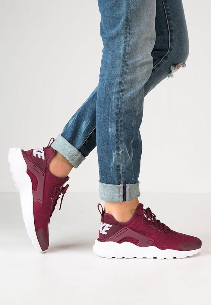 chaussure nike bordeau femme