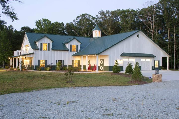 American Classics Custom Metal Building Home W Hobby Garage 10 Pictures Free Floor Plans