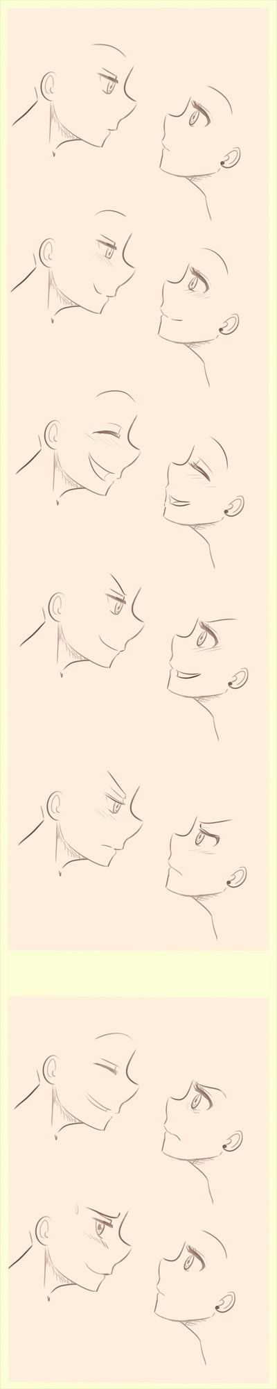 Anime Manga Side Profile Expressions Reference By Littlesomethings On Deviantart Anime Drawings Drawing Sketches Drawing Tutorial