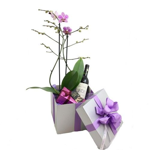 Orchid And Roses Flower Basket Anniversary Gift Home Decor Birthday Gifts For Parents Flower Basket Cold Porcelain Flowers Toilet Paper Flowers