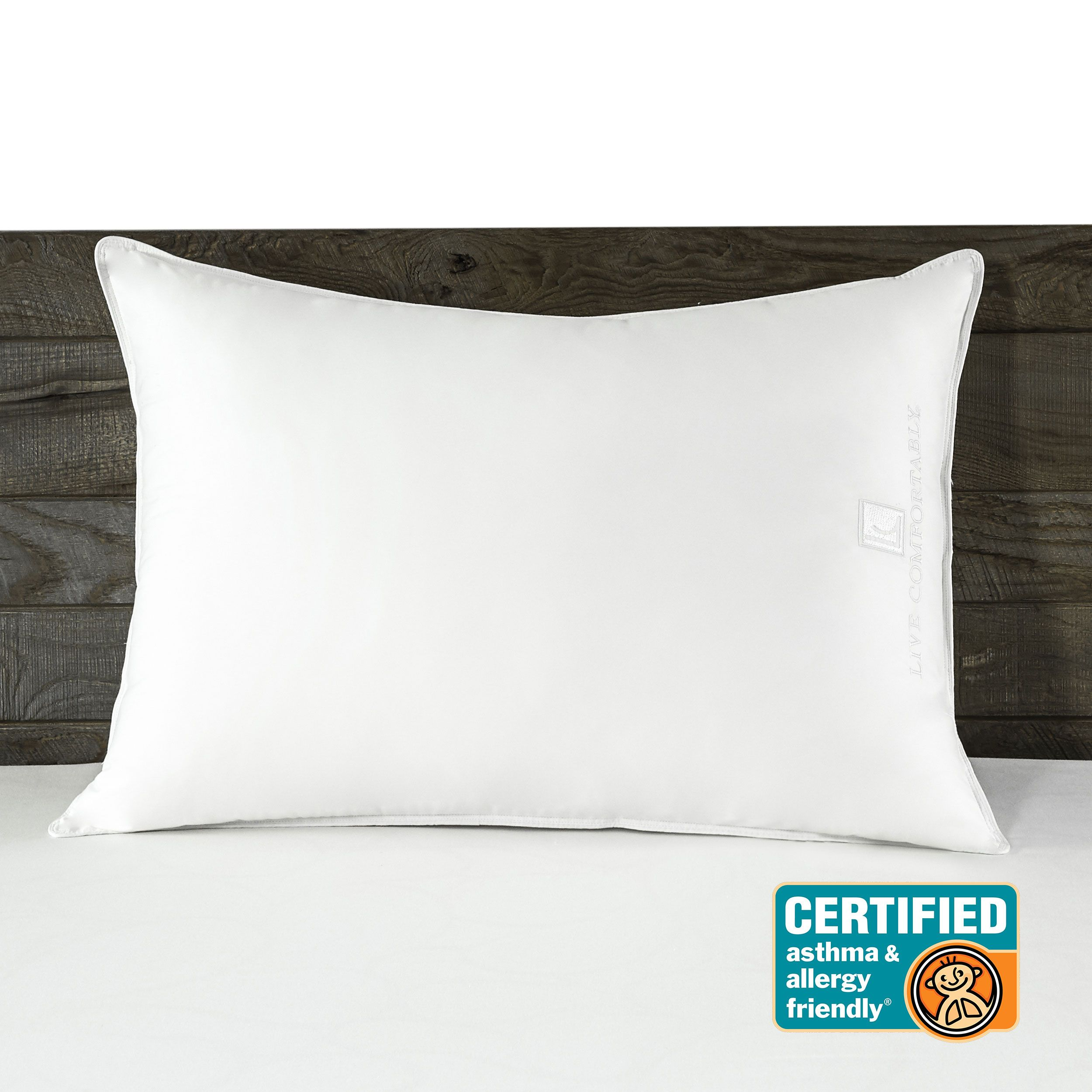 Live Comfortably Certified Asthma Allergy Friendly Down Alternative Pillow Pillows Allergy Asthma Live Comfortably